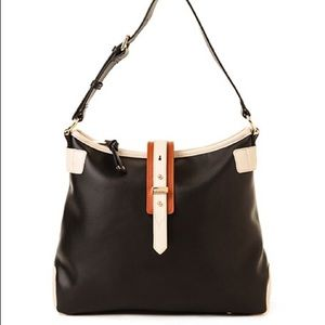 Spartina buckle hobo bag black NWT